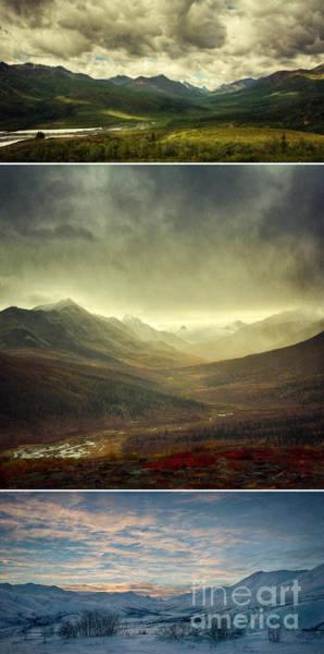 Wall Art - Photograph - Tombstone Range Seasons Vertical by Priska Wettstein