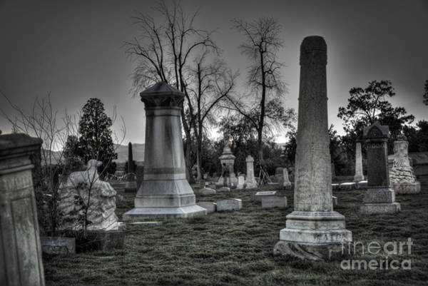 Wall Art - Photograph - Tombstones And Tree Skeletons by Juli Scalzi