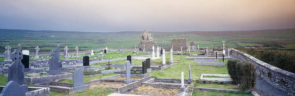Clare Photograph - Tombstones In A Cemetery, Poulnabrone by Panoramic Images
