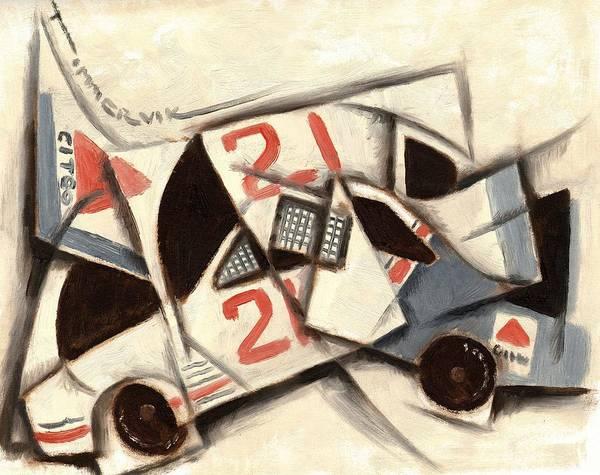 Tommervik Cubism Race Car  Art Print