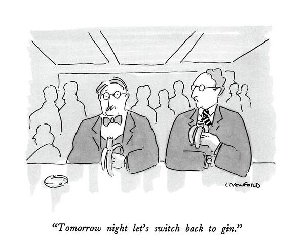 Fitness Drawing - Tomorrow Night Let's Switch Back To Gin by Michael Crawford