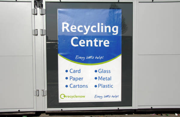 City Centre Photograph - Tomra Recycling Centre Poster by Science Photo Library
