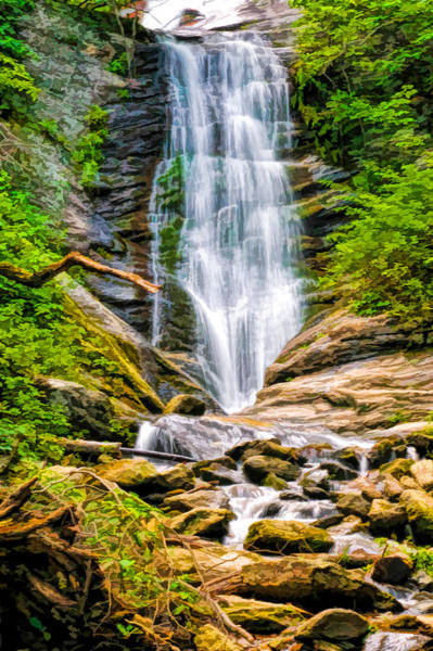 Photograph - Toms Creek Falls In Marion North Carolina by Ginger Wakem