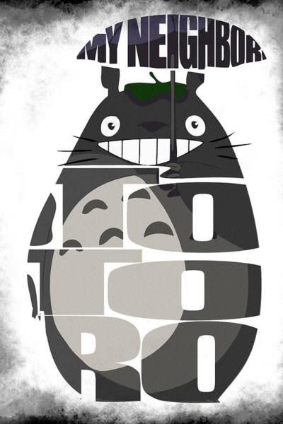 Totoro Digital Art - Tonari No Totoro - My Neighbor Totoro by Inspirowl Design