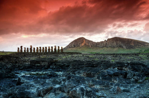 Capital Cities Photograph - Tongariki And Rano Raraku by Marko Stavric Photography