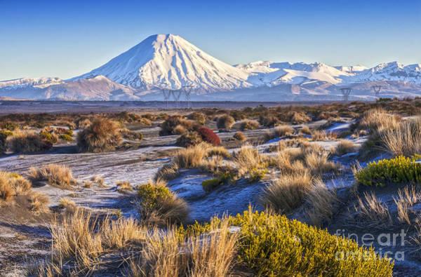 Mount Desert Island Photograph - Tongariro National Park New Zealand by Colin and Linda McKie