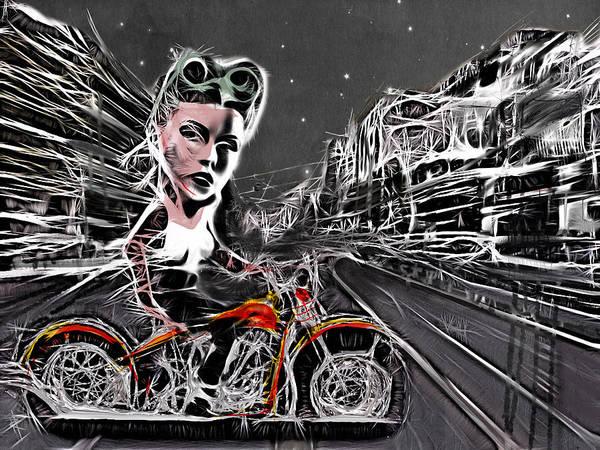 Wall Art - Mixed Media - Tonight We Ride by Russell Pierce