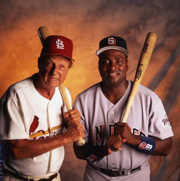 Wall Art - Photograph - Tony Gwynn And Stan Musial by Retro Images Archive