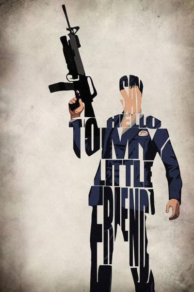 Tony Digital Art - Tony Montana - Al Pacino by Inspirowl Design