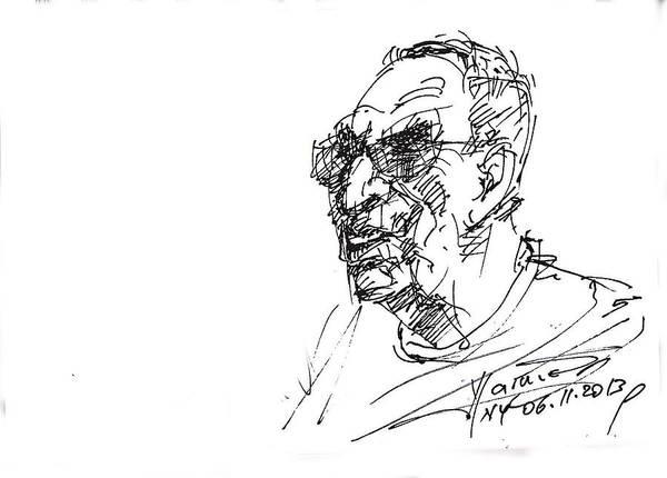 Heads Drawing - Tony by Ylli Haruni