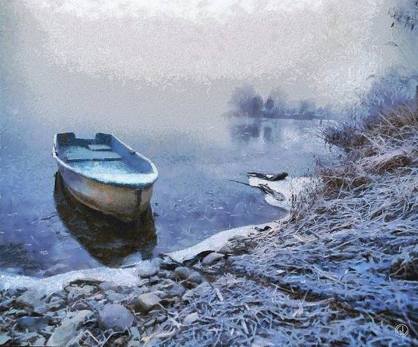 Frozen Lake Digital Art - Too Cold For A Boat Trip by Gun Legler