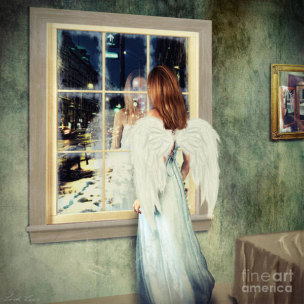 Angelic Digital Art - Too Cold For Angels by Linda Lees
