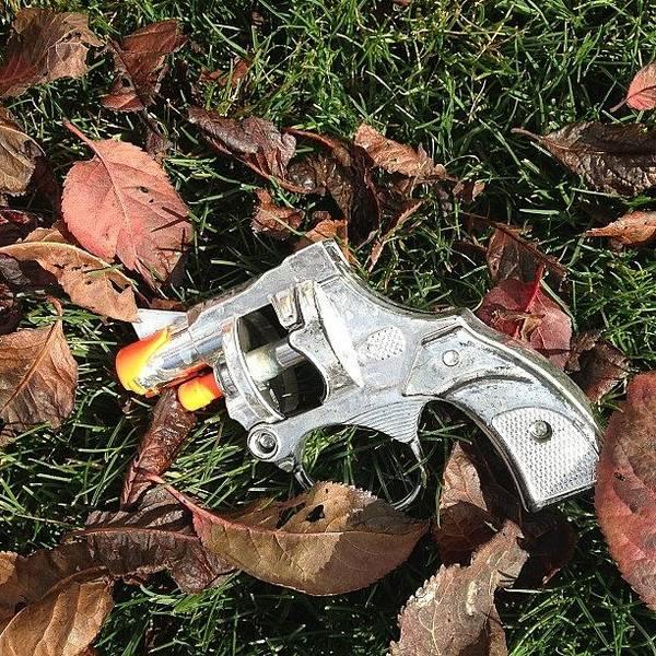 Toy Gun Photograph - Too Many Bodies On It So He Tossed It by Diego De La Tierra