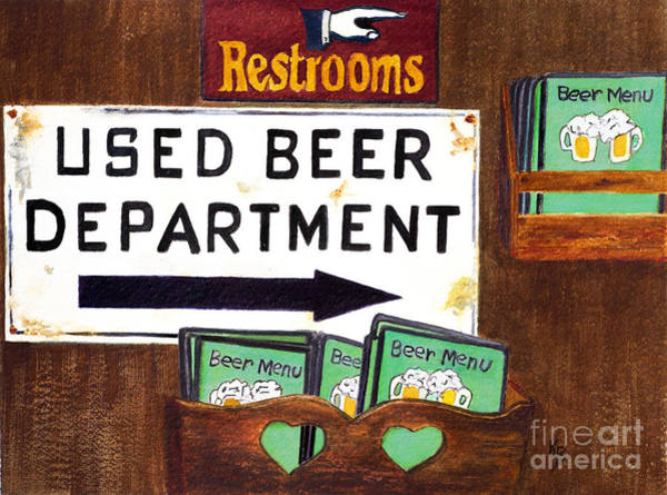 Painting - Too Many Suds by Karen Fleschler