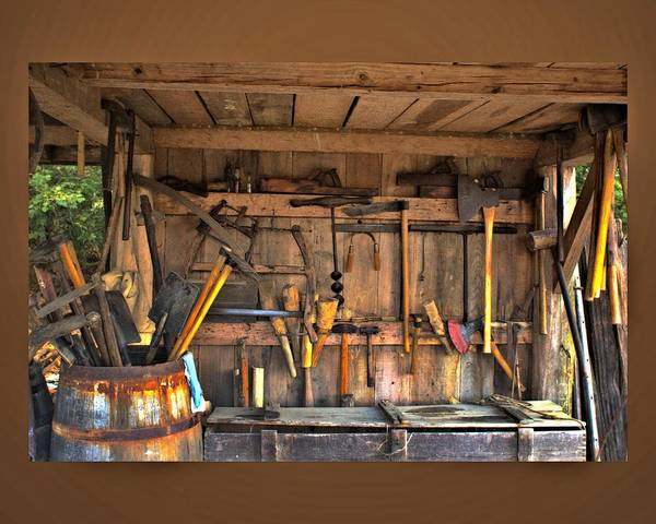 Photograph - Tool Shed by John Feiser