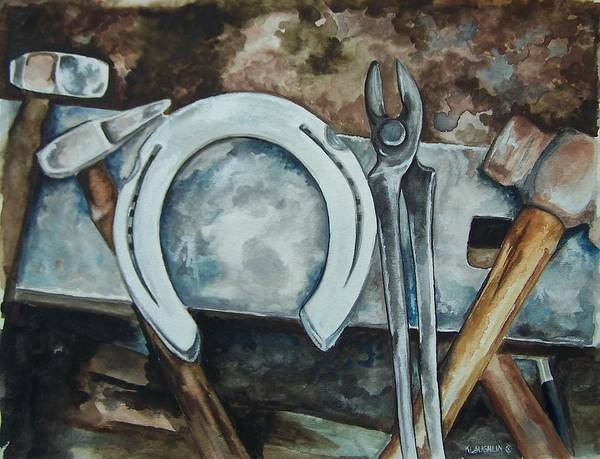 Painting - Tools Of The Trade by Kathy Laughlin