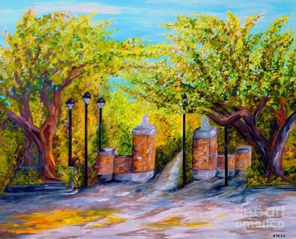 Toomer Wall Art - Painting - Toomer's Corner Oaks by Eloise Schneider Mote