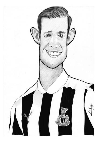 Magpies Drawing - Toon Caricature - Mike Williamson - Midfield by Jan Szymczuk