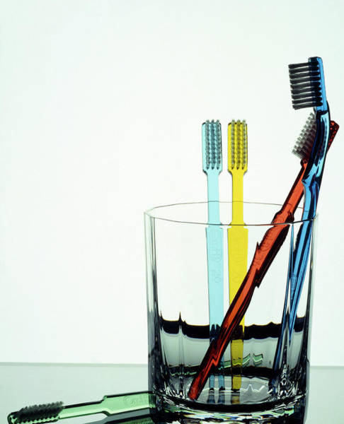 Oral Wall Art - Photograph - Toothbrushes by Peter Aprahamian/science Photo Library