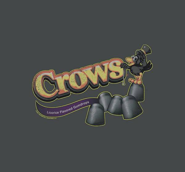 Novelty Digital Art - Tootise Roll - Crows by Brand A