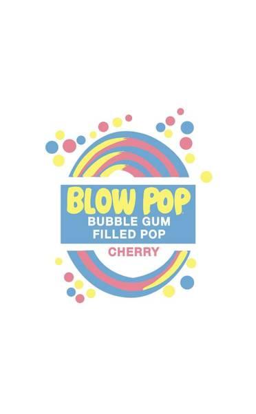 Novelty Digital Art - Tootsie Roll - Blow Pop Label by Brand A