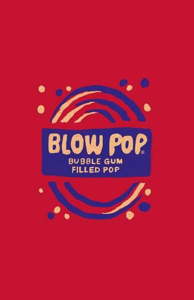 Novelty Digital Art - Tootsie Roll - Blow Pop Rough by Brand A