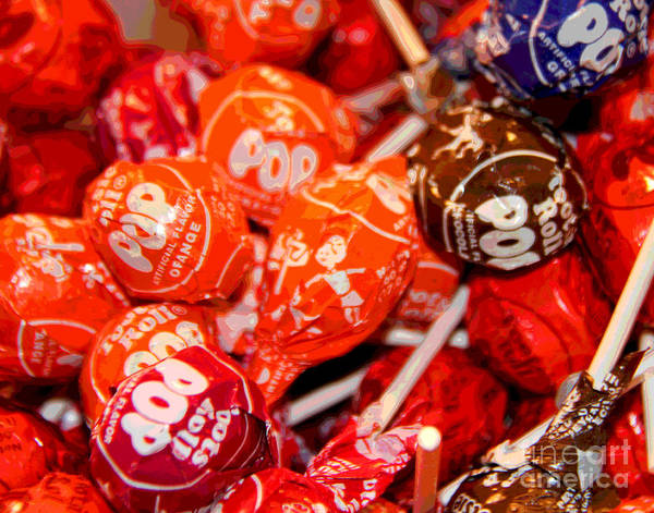 Photograph - Tootsie Roll Pops by Larry Oskin