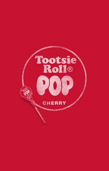 Novelty Digital Art - Tootsie Roll - Tootsie Roll Pop Logo by Brand A