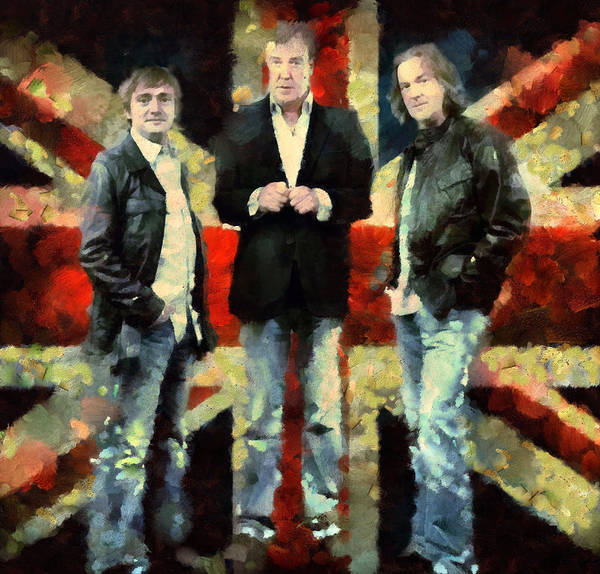 Bbc Painting - Top Gear Lads by Janice MacLellan