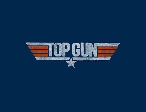 Action Digital Art - Top Gun - Distressed Logo by Brand A