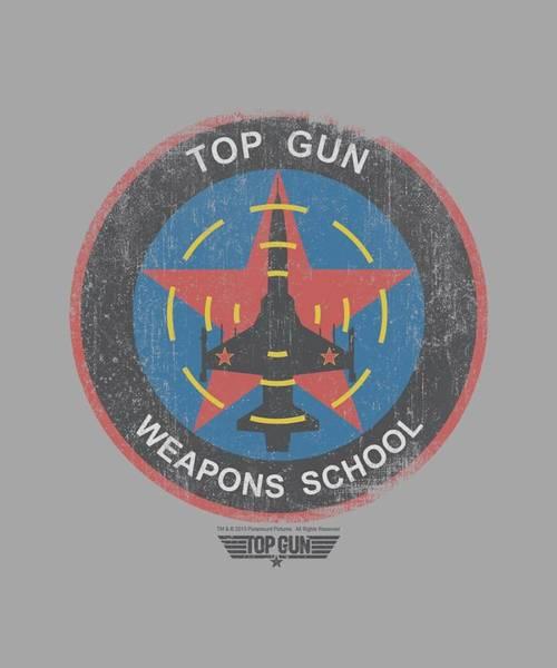 Wall Art - Digital Art - Top Gun - Flight School Logo by Brand A