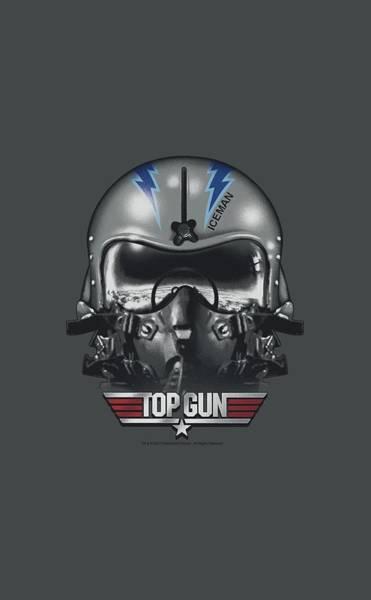Goose Digital Art - Top Gun - Iceman Helmet by Brand A