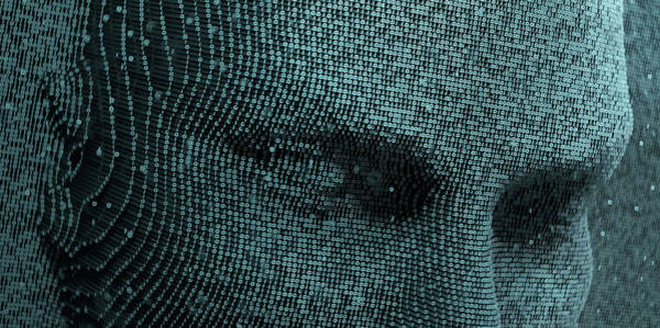 Malware Photograph - Top Half Of Face In Three Dimensional by Ikon Images