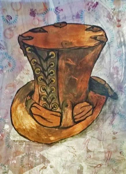 Lid Painting - Top Hat by Melissa Osborne