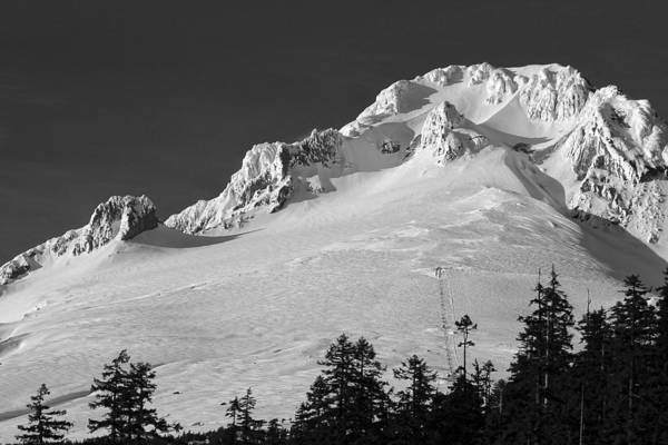 Photograph - Top Of Mt Hood W1317 by Wes and Dotty Weber