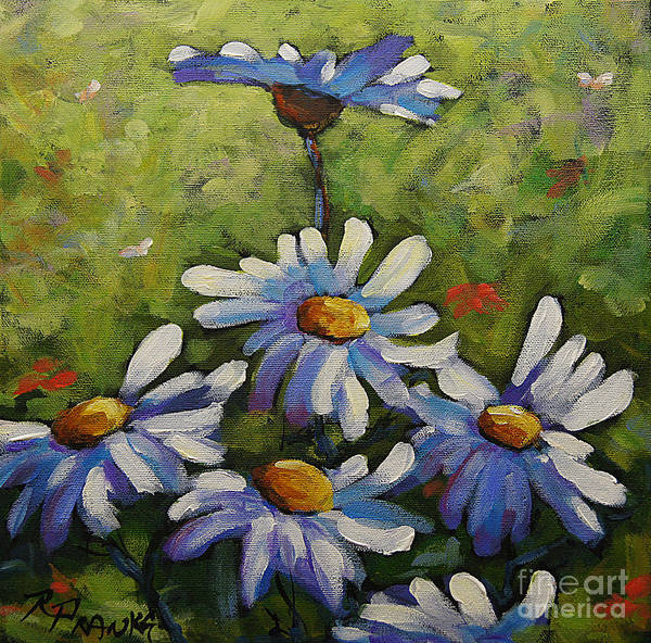 Wall Art - Painting - Top Of The Bunch Daisies By Prankearts by Richard T Pranke