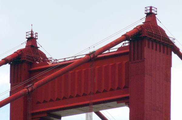Photograph - Top Of The Golden Gate Bridge by Jeff Lowe