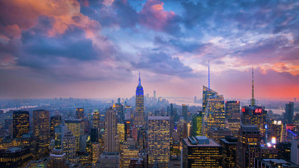 Top Of The Rock Art Print by Michael Zheng