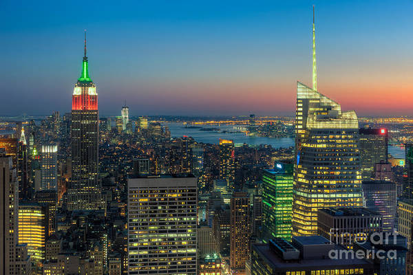 Top Of The Rock Twilight I Art Print