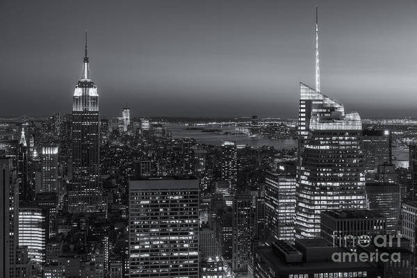 Photograph - Top Of The Rock Twilight V by Clarence Holmes