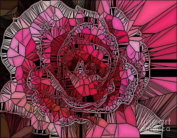 Digital Art - Top Of The Rose by Catherine Lott