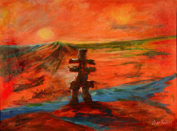 Painting - Top Of The World by Sher Nasser