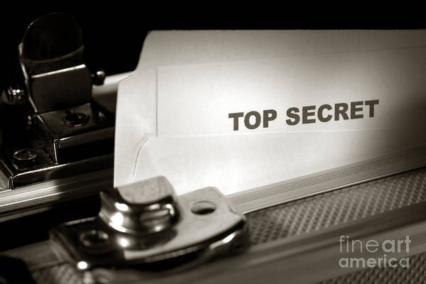 Photograph - Top Secret Document In Armored Briefcase by Olivier Le Queinec