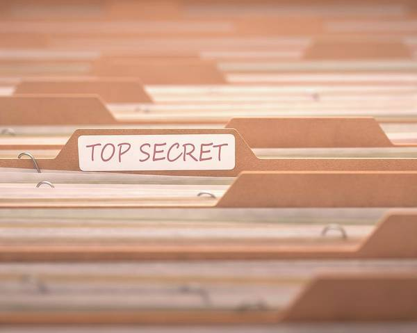 Tab Photograph - Top Secret Files by Ktsdesign/science Photo Library