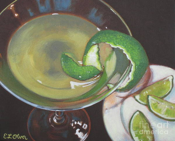 Martini Glasses Painting - Top Shelf Margarita by Elisabeth Olver