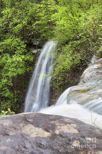 Triple Falls Photograph - Top View Of Triple Falls Waterfalls In Arkansas by Brandon Alms