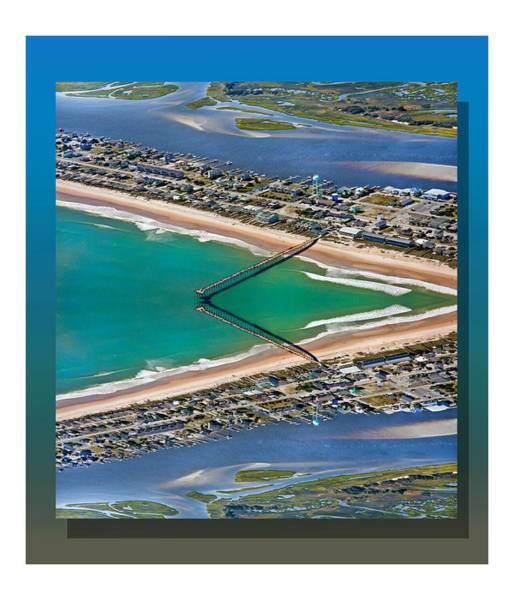 Pads Digital Art - Topsail Beach Aerial Reflection by Betsy Knapp