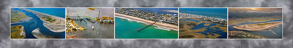 Wall Art - Photograph - Topsail Island Aerial Panels II by Betsy Knapp