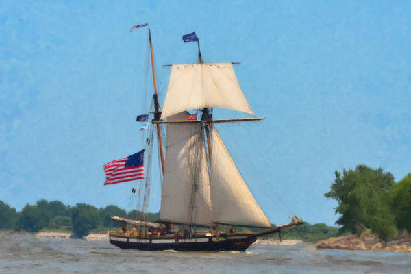 Painting - Topsail Schooner Lynx by Dean Wittle