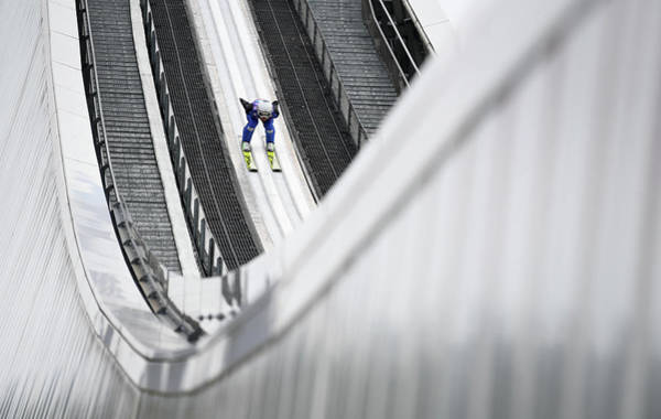 Ski Jumping Photograph - Topshot-ski-jumping-four-hills by Christof Stache